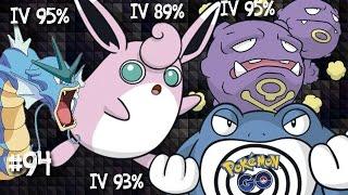 Wigglytuff  - (Pokémon) - Evolução do Gyarados IV 95%, Wigglytuff IV 89%, Weezing IV 95% e Poliwrath IV 93% Pokemon Go Brasil