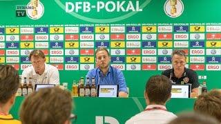1. Runde DFB-Pokal | SGD - RBL | Pressekonferenz nach dem Spiel