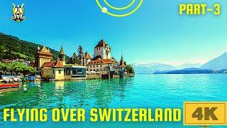 FLYING OVER SWITZERLAND 4K UHD- Switzerland 4k , Cinematic FPV , Scenic Relaxation, Nature and Music