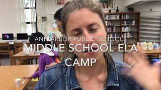 AAPS Middle School ELA Camp 2018