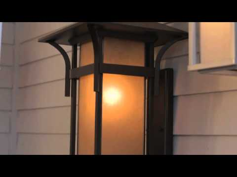 Video for Harbor Satin Black 11-Inch One-Light LED Outdoor Wall Mounted