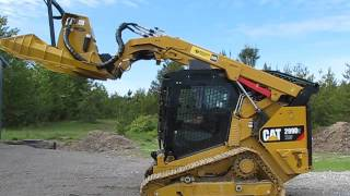 CAT 299D2 equipped with Forestry Package from Heavy Equipment Armor.