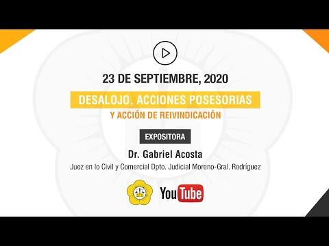 DESALOJO, ACCIONES POSESORIAS Y ACCIÓN DE REIVINDICACIÓN - 23 de Septiembre 2020