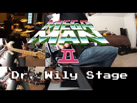 Mega Man 2 - Dr. Wily Stage 1 (One Person Cover)