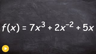 Determining if a function is a polynomial or not then determine degree and LC