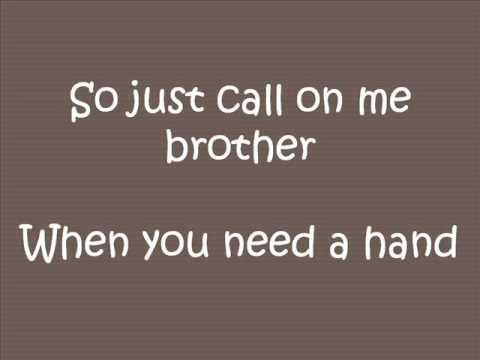 Lean On Me- Bill Withers (Lyrics)