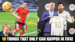 10 THINGS THAT ONLY CAN HAPPEN IN FIFA!! 😂🤣