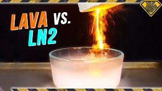 Is It a Good Idea to Pour LAVA into LIQUID NITROGEN?! - Video Youtube