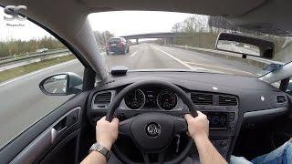 VW Golf 7 Variant 1.6 TDI BlueMotion (2016) On German Autobahn - POV Top Speed Drive