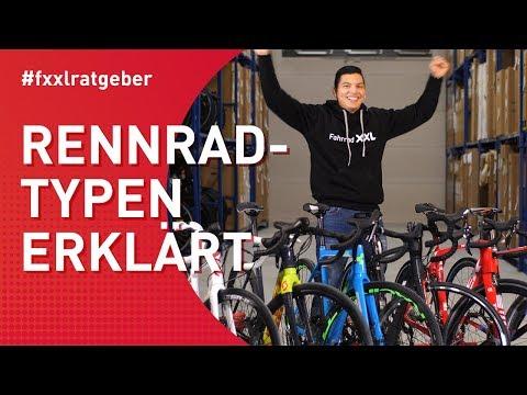 Rennradtypen (Race, Aero, Gravel, Cross, Touren, Damen) erklärt
