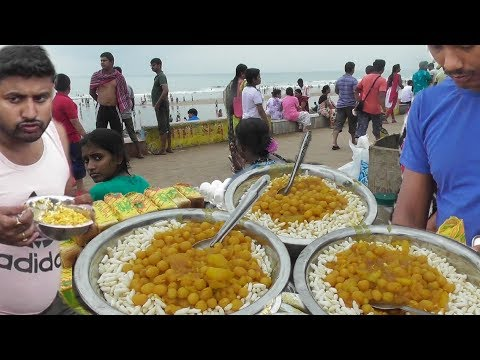 Breakfast with Muri Ghugni | Street Food Digha Sea Beach West Bengal