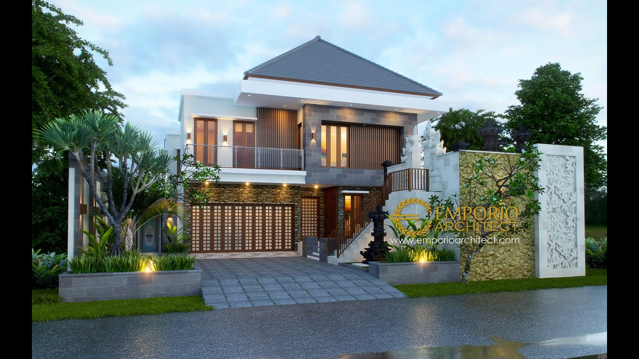 Video 3D Desain Rumah Villa Bali 2 Lantai Bapak Nyoman Joni di Denpasar, Bali