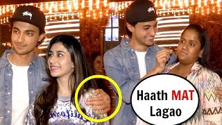 Arpita Khan ANGRY On Aayush Sharma For TOUCHING Warina Hussain At Loveratri