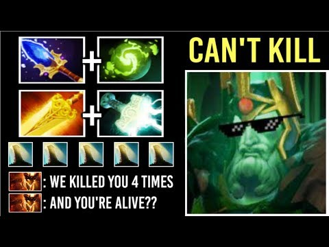 WTF 4x Times Killed and Still Alive? Refresher Scepter WK Immortal Build Epic Gameplay 7.21 Dota 2