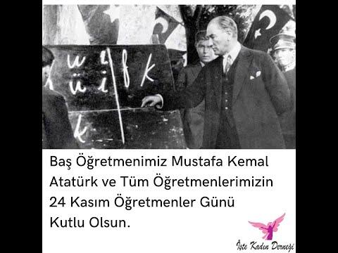 Baş Öğretmenimiz Mustafa Kemal Atatürk ve Tüm Öğretmenlerimizin Öğretmenler Günü Kutlu Olsun.