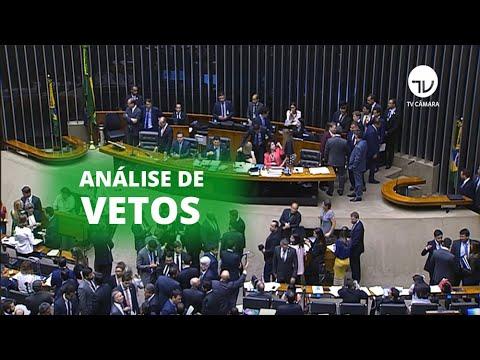 Congresso analisa vetos presidenciais polêmicos - 26/09/19