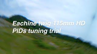 マイクロドローンEachine twig 115mm PID調整テスト飛行