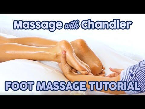 HD Foot Massage Tutorial for Relaxation & Pain ♥ Blending Massage Modalities, How to Massage Feet