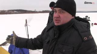 Зимняя рыбалка на ижевском пруду