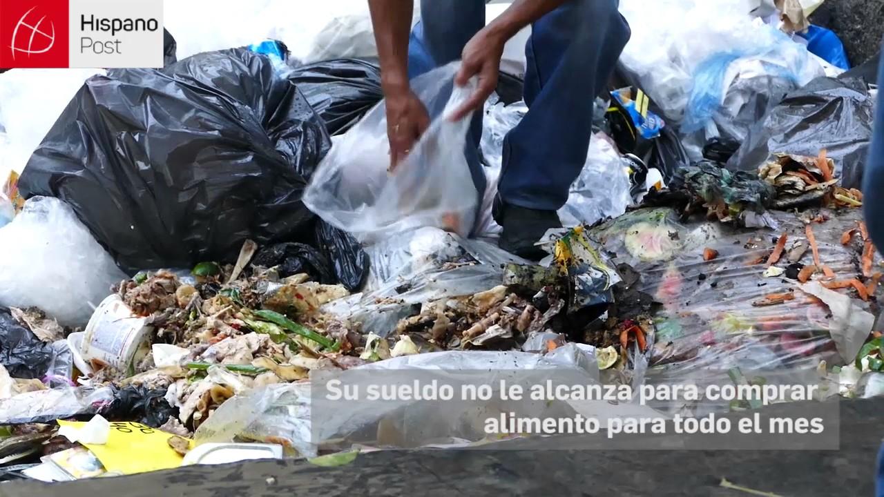 Venezolanos hurgan en la basura para conseguir alimentos
