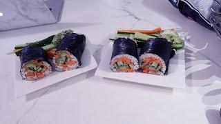 Sushirrito (sushi burrito) maken | Vloggloss 739