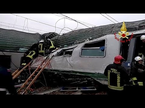 At least three dead after train derails near Milan