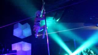 Brynn Route pole dancing performance at Cirque Lunaire