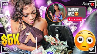 LEAVING $5000 IN FRONT OF AN INSTAGRAM MODEL TO SEE IF SHE TAKES IT!
