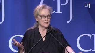 Meryl Streep speaks at CPJ's 2017 International Press Freedom Awards