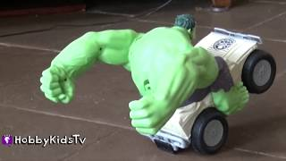 Hulk Smash Remote Control Car! HobbyTiger + HobbySpider Toy Review By HobbyKidsTV