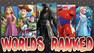 ALL Disney Worlds Ranked - Kingdom Hearts 3 (HD Re-Upload)