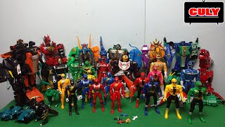 bộ sưu tập 5 anh em siêu nhân gao đồ chơi robot siêu thú biến hình - power rangers collection figure