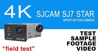 SJCAM SJ7 Star - Sample test video footage  UHD 4K