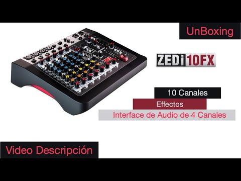 ZEDi 10Fx Allen and Heath Mezcladora de 10 canales con efectos y Interface de Audio de 4 canales