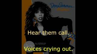 "Donna Summer - Voices Cryin' Out LYRICS SHM ""All Systems Go"" 1987"