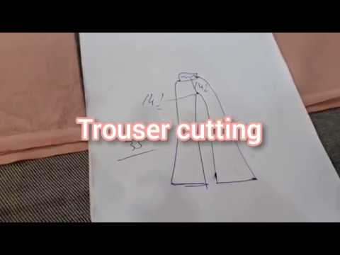 Bell bottom trouser cutting  How to cut trouser at home👍🙃