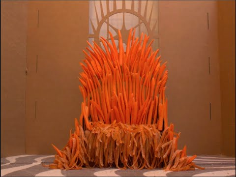 Built the Iron Throne out of Carrots for my rabbit