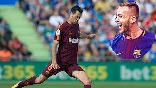 Arthur Melo & Busquets ● Imagine Barcelona's Midfield 💣 WOW !