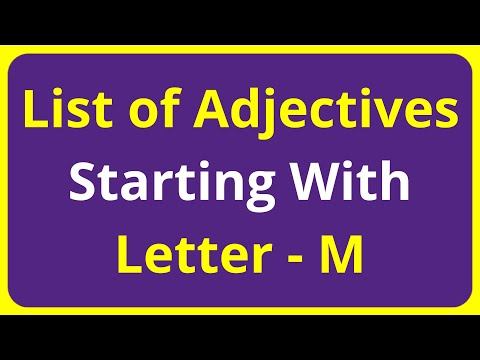 List of Adjectives Words Starting With Letter - M