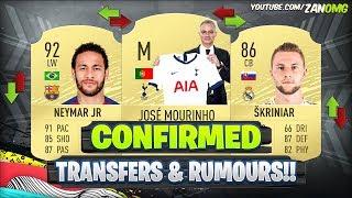 FIFA 20 | NEW CONFIRMED TRANSFERS & RUMOURS!! 😱🔥 | FT. NEYMAR, MOURINHO, SKRINIAR..