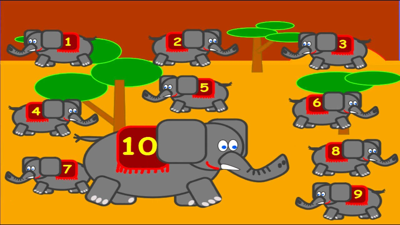 10 Little Elephants