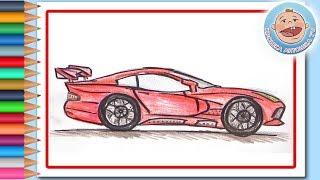 Поделки - Рисуем красный гоночный автомобиль