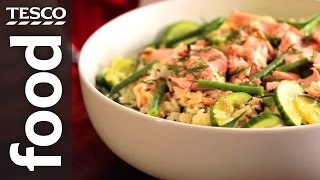 How to Make Salmon and Wild Rice Salad