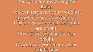Downtown  Petula Clark with lyrics