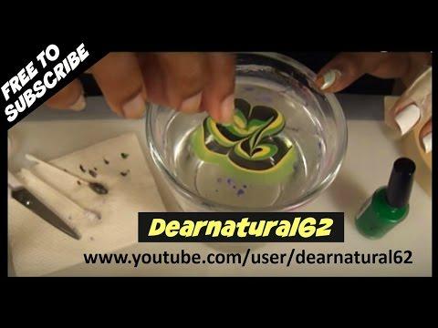 NAIL ART - WATER MARBLE TUTORIAL   Dearnatural62