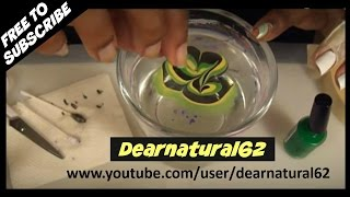 HOWTO | WATER MARBLE NAIL ART TUTORIAL | Dearnatural62