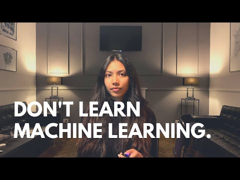 Why You Should NOT Learn Machine Learning!