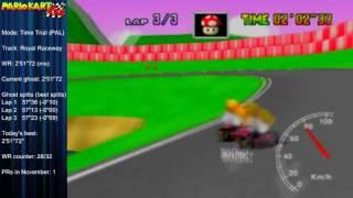 "MK64 - World Record on Royal Raceway - 2'51""66 (NTSC: 2'22""76) by Matthias Rustemeyer"