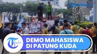 Ratusan Mahasiswa Gelar Unjuk Rasa 2 Tahun Kepemimpinan Jokowi-Ma'ruf, Sampaikan 12 Tuntutan