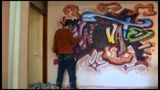 Como hacer un graffiti paso a paso
